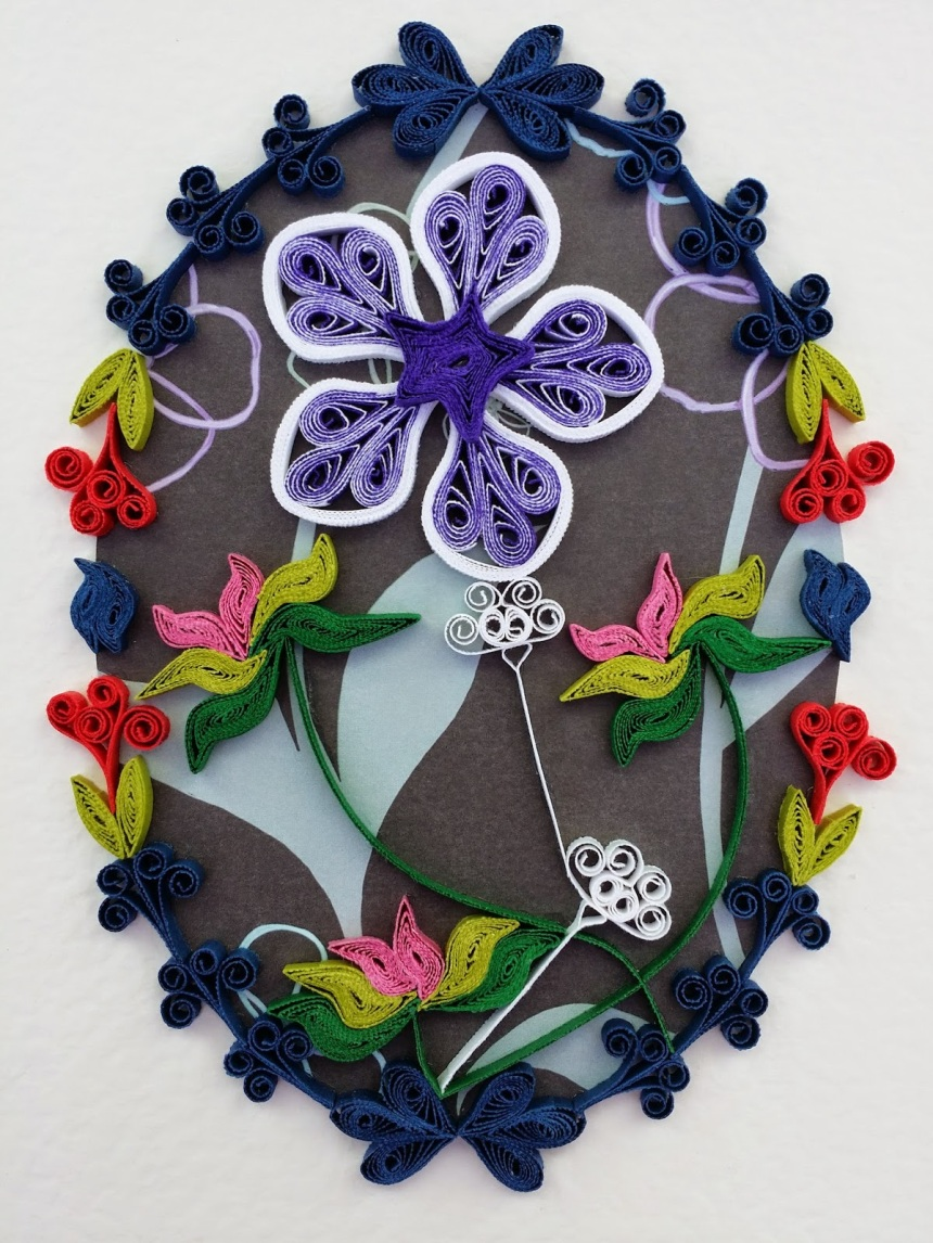 A5 300 gsm paper; quilled paper of various weights and colours